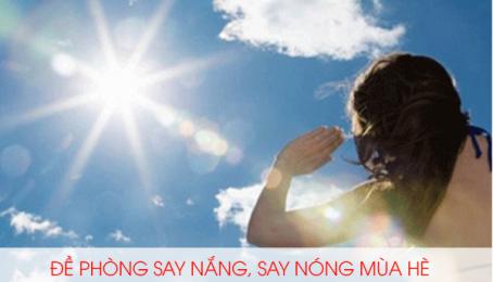 Đề phòng say nắng, say nóng mùa hè và phương pháp cấp cứu