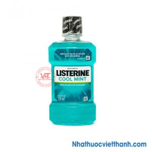 Nước súc miệng diệt khuẩn Listerine Cool Mint 250ml