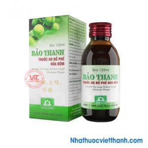 Thuốc ho, bổ phế, hóa đờm Bảo Thanh (chai 125ml)