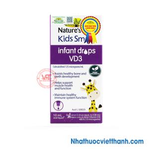 Nature's Way Kids Smart Infant Drops VD3 - Bổ sung D3 tinh khiết cho trẻ
