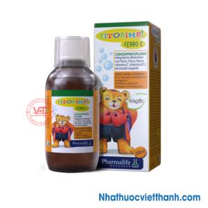 Fitoimbi Ferro C - Siro bổ sung sắt, kẽm cho bé vị ngọt tự nhiên dễ uống