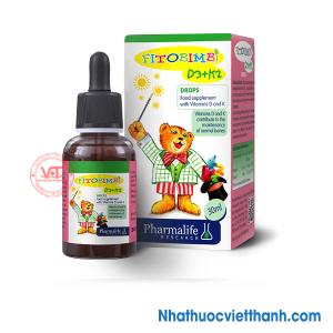 Fitobimbi D3+K2 - Giúp trẻ hấp thu canxi, giúp xương, răng chắc khỏe