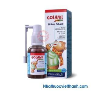 Xịt họng Golanil junior – giúp bé dịu cơn ho, giảm đau rát họng, viêm họng